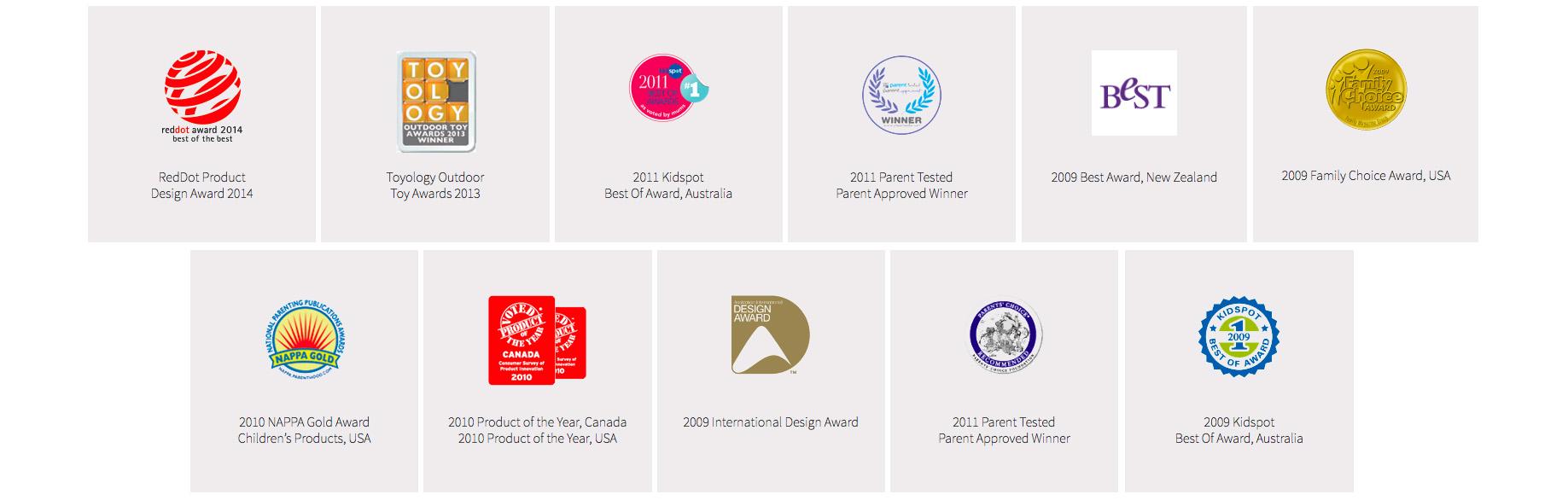 Springfree Trampoline awarded internationally