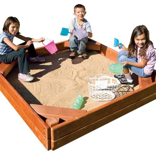 MODEL #14Q Sandbox w/seats 5.2' x 5.2'