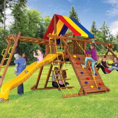 "Design 16A - Circus Turbo Base Castle Pkg III with 4""x4"" Monkey Bars"