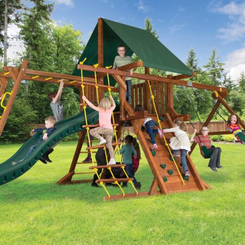 "Design 20B - Sunshine Base Castle Pkg III w/ 4""x 4"" Monkey Bar"