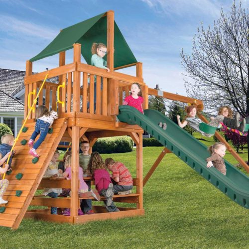 Design 34A - Fiesta Clubhouse Pkg II w/ Scoop Slide