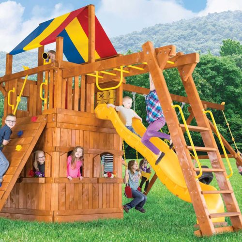 Design 38D - Carnival Turbo Clubhouse Pkg III w/ Playhouse & More
