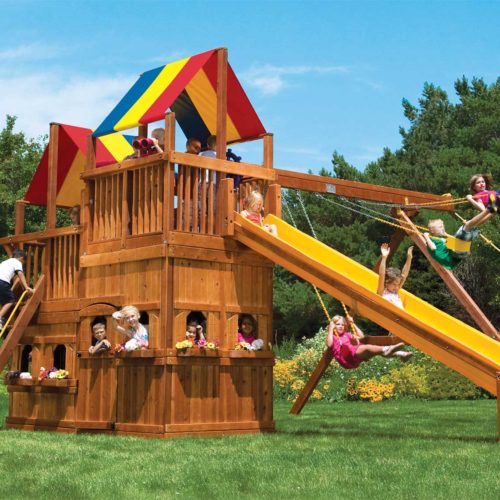 Design 46A - King Kong Clubhouse Pkg II w/ Lower-Level Playhouse