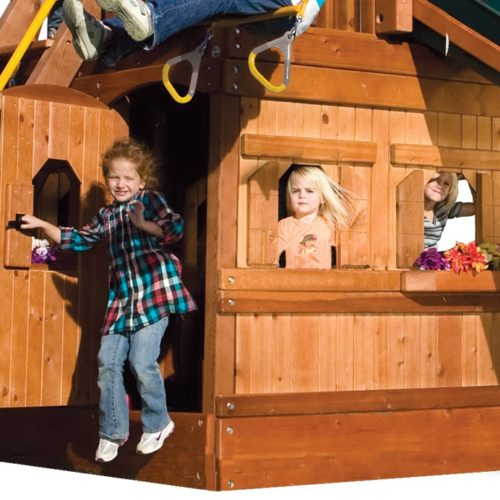 MODEL #9R Sun/Rain Lower-Level Playhouse$1450 - Carn $775