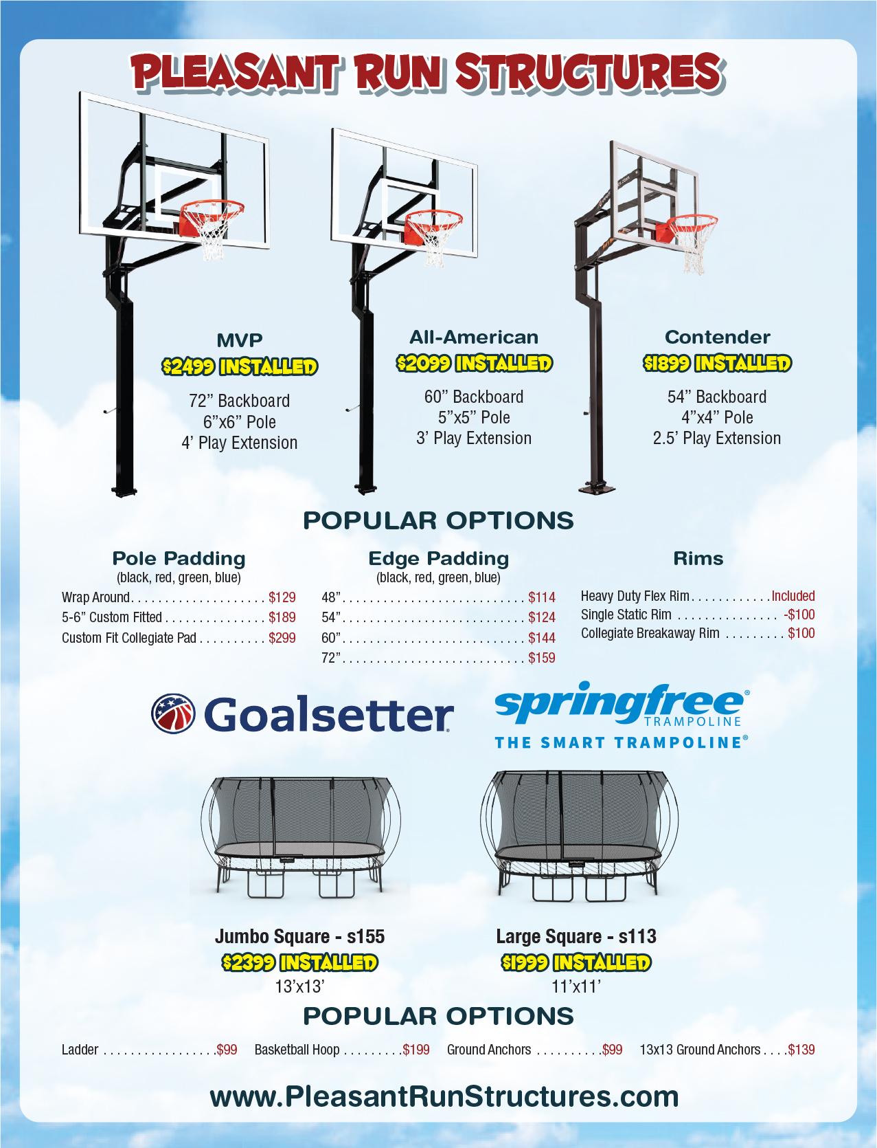 2021 Winter Price List - Free Installation!